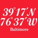 T-Shirts with imprinted coordinates of Baltimore