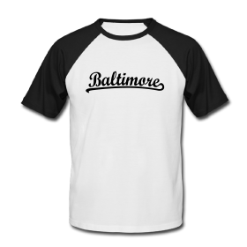 Baltimore, Maryland t-shirts and gifts