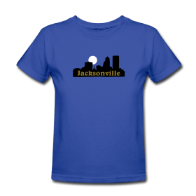 T-shirts with imprinted Jacksonville, Florida skyline
