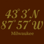 T-Shirts imprinted with the coordinates of Milwaukee, Wisconsin