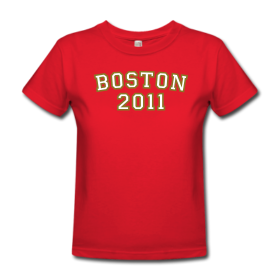 Boston 2011 College Style T-Shirt