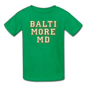 Baltimore t-shirts for kids