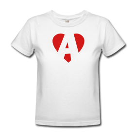 "T-Shirts with heart and ""A"""