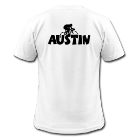 Austin t-shirts for cyclists