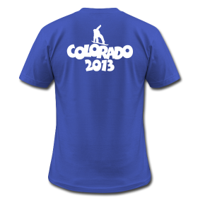Colorado 2013 snowboarder t-shirts