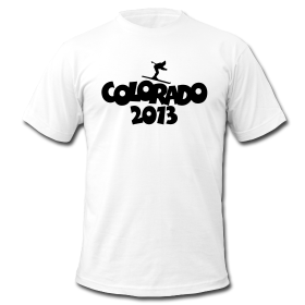 Colorado 2013 skiing t-shirts