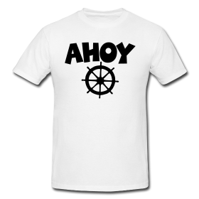 Ahoy t-shirts for sailors