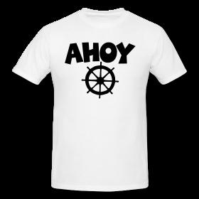 Ahoy t-shirts for sailors