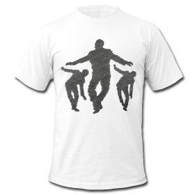 Art t-shirts with balancing men